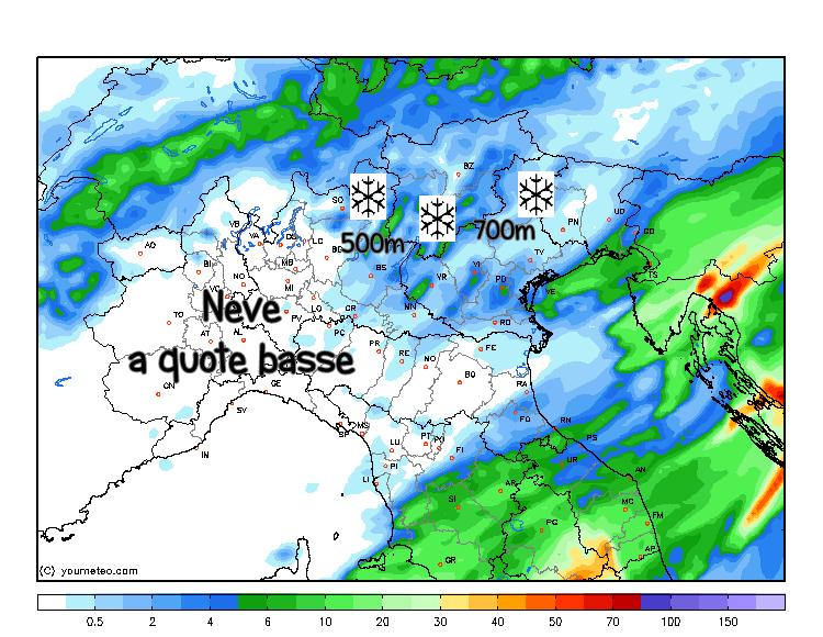 Previsioni meteo, neve anche in pianura in arrivo al Nord