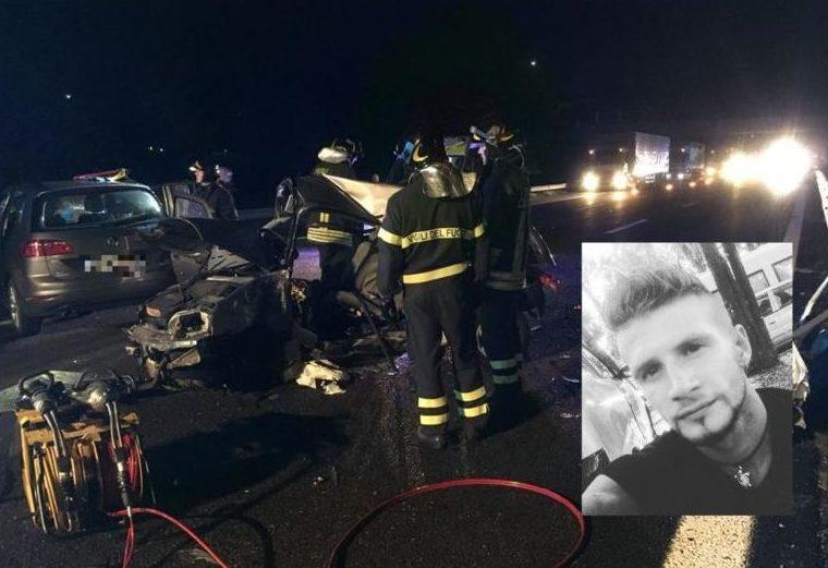 L'auto si ferma in mezzo alla A4: botto violento, muore un 25enne