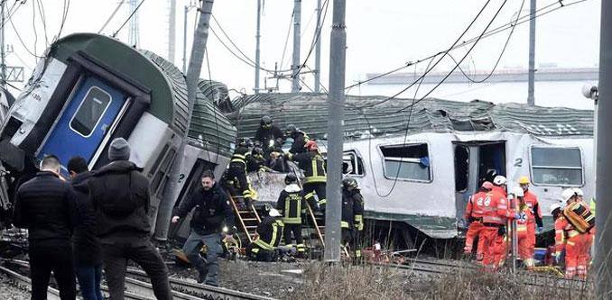Treno deragliato alle porte di milano l 39 eco vicentino - Treno milano porta garibaldi bergamo ...