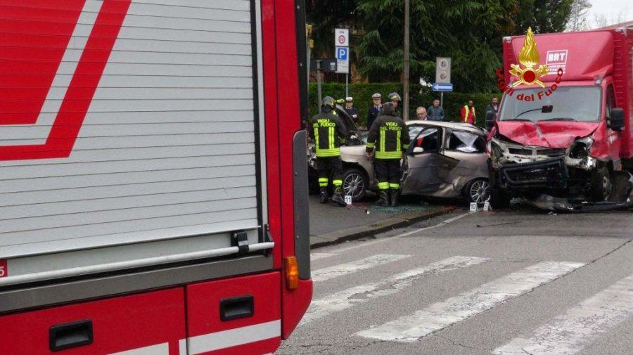 Vicenza, incidente mortale in via Legione Gallieno