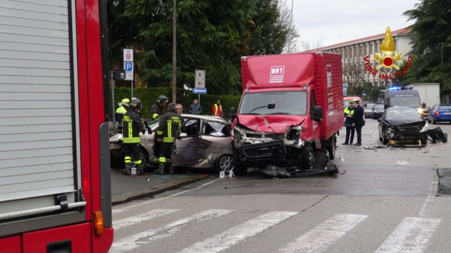 Vicenza, incidente mortale in via Legione Gallieno