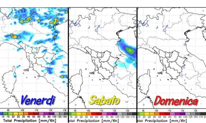 Maltempo, allerta meteo Latina e Lazio 6-7 settembre 2018