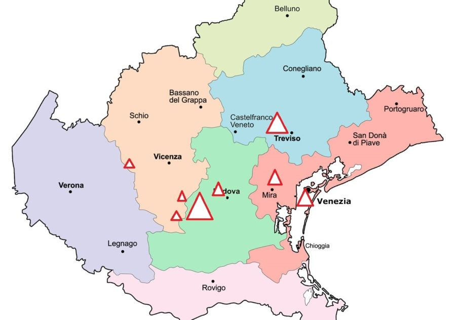 Cartina Politica Del Veneto.Virus 4 Caso Positivo Nel Vicentino La Situazione A 7 Giorni Dai Primi Contagi In Veneto L Eco Vicentino